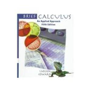 9780395916858: Brief Calculus: An Applied Approach