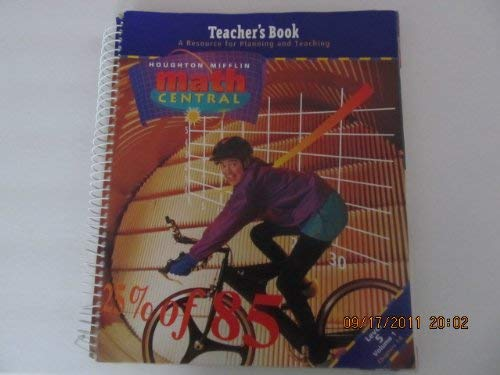 Teacher's Book Lvl 5 Vol 1 (Houghton Mifflin Math Central, Volume One, Chapters 1-6): Boswell,...