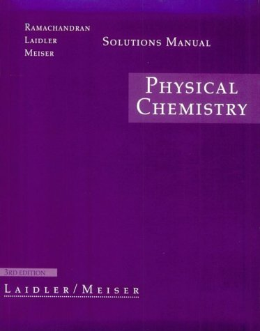 9780395918494: Physical Chemistry: Solutions Manual