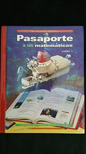 9780395918524: Passaporte a las Matematicas Libro 1, Grade 6: Mcdougal Littell High School Math (Spanish Edition)