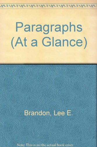 paragraph and essays by lee brandon Paragraphs and essays: a worktext with readings by brandon, lee cengage learning paperback 0618421068 meets or exceeds the.