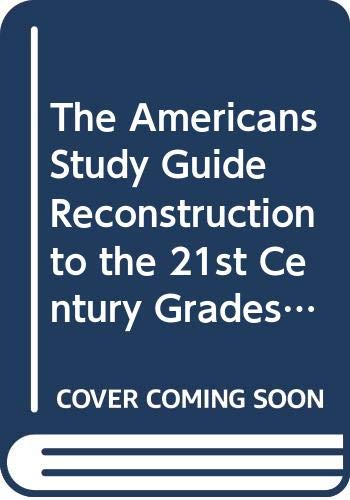 9780395920770: The Americans Study Guide Reconstruction to the 21st Century Grades 9-12: Mcdougal Littell the Americans