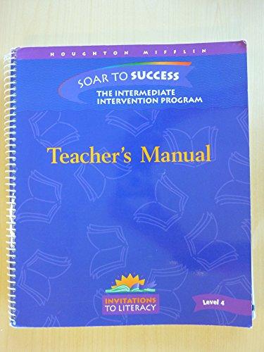 Teacher's Manual for Soar to Success: The Intermediate Intervention Program (Invitations to ...