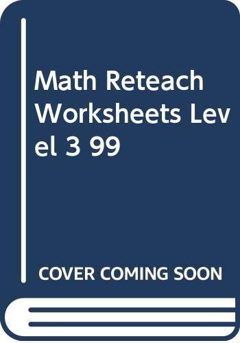 Math Reteach Worksheets Level 3 99