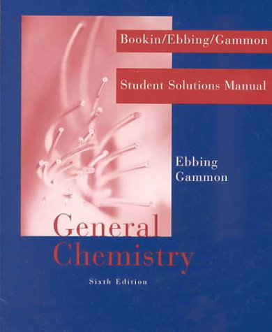 9780395925539: General Chemistry: Student Solutions Manual