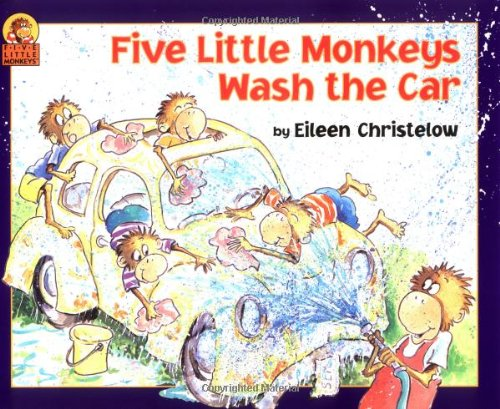 9780395925669: Five Little Monkeys Wash the Car (A Five Little Monkeys Story)