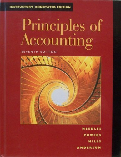Principles of Accounting (9780395927588) by Powers, Marian; Mills, Sherry K.; Anderson, Henry R.