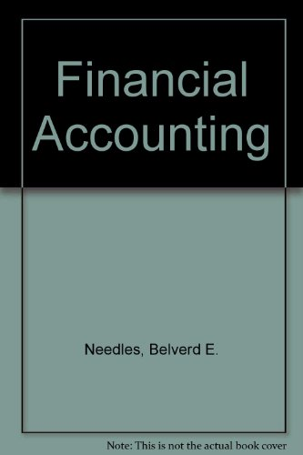 Financial Accounting (9780395932315) by Needles, Belverd E.; Powers, Marian