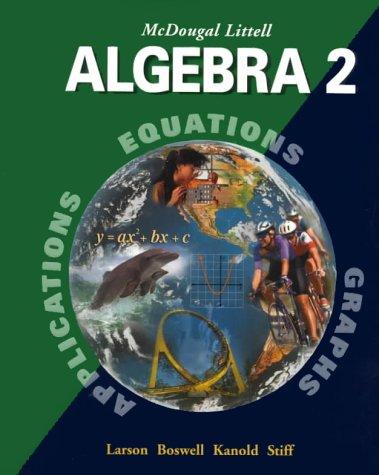 9780395937785: McDougal Littell Algebra 2: Student Edition 2001