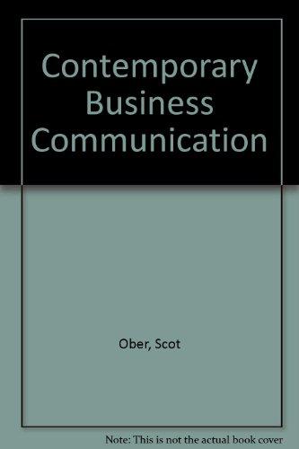 9780395937938: Contemporary Business Communication