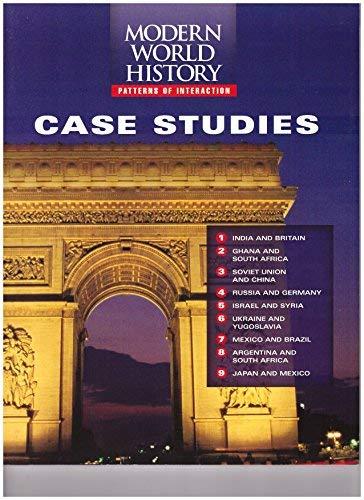 9780395938324: Modern World History: Patterns of Interaction Case Studies