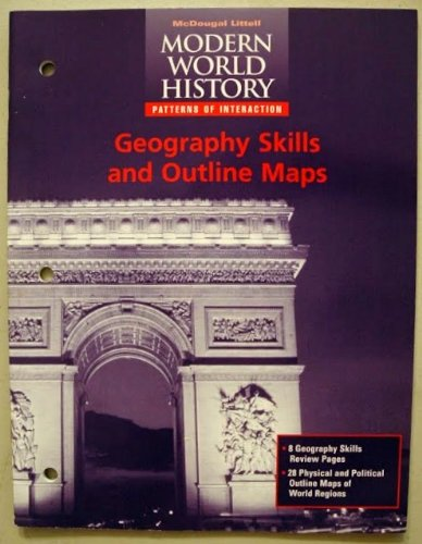 9780395938447: Geography Skills and Outline Maps Modern World History Patterns of Interaction