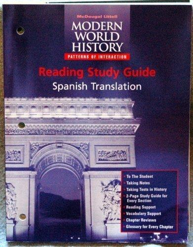 9780395942079: McDougal Littell World History: Patterns of Interaction: Reading Study Guide (Spanish) Grades 9-12 Modern World History (Poi Whist)