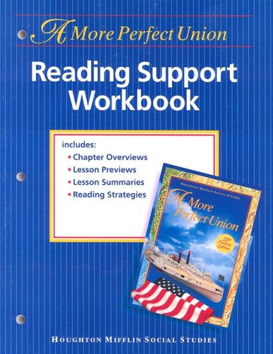 9780395947029: HMSS Reading Support Workbook, Level 8: A More Perfect Union
