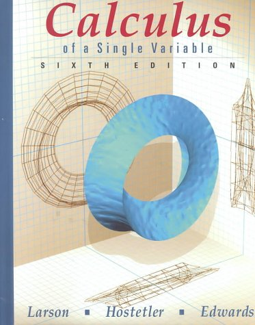 9780395948620: Calculus of a Single Variable