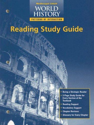 9780395952047: McDougal Littell World History: Patterns of Interaction: Reading Study Guide Grades 9-12 Modern World History