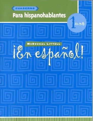 9780395953419: ¡En español!: Para hispanohablantes (cuaderno) Level 1 (Spanish Edition)