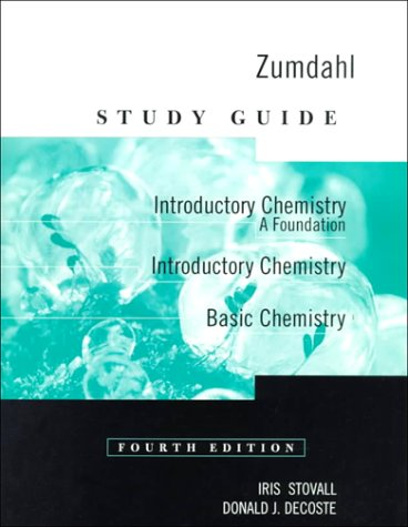 9780395955420: Study Guide for Zumdahl's Introductory Chemistry: A Foundation, 4th