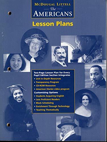 9780395956717: The Americans Lesson Plans