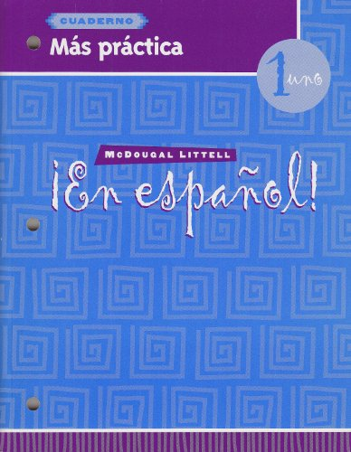 9780395958087: ¡En español!: Más práctica (cuaderno) Level 1 (Spanish Edition)