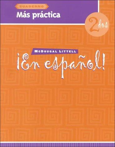 9780395958094: ¡En español!: Más práctica (cuaderno) Level 2 (Spanish Edition)