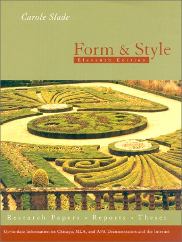 9780395958278: Form And Style, Eleventh Edition (Form and Style, 11th ed)