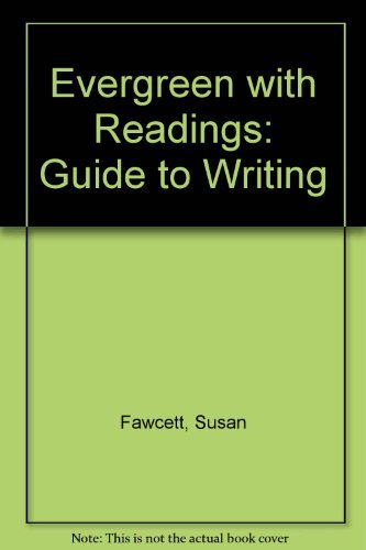 9780395958476: Evergreen With Readings: A Guide to Writing
