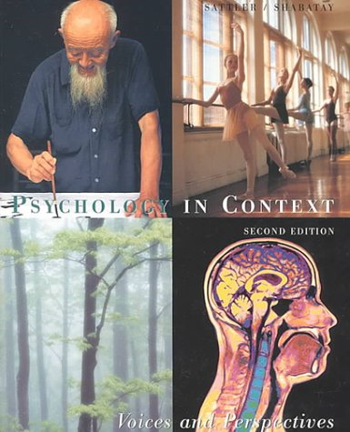 9780395959626: Psychology in Context: Voices and Perspectives