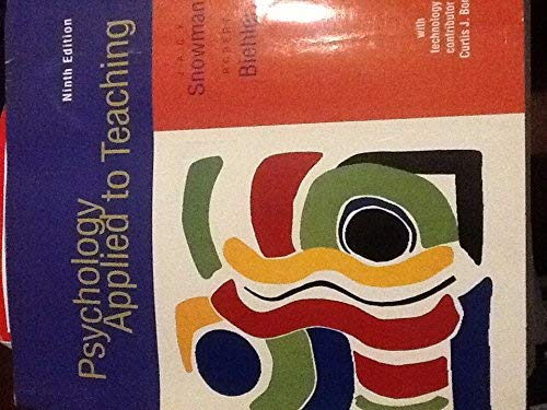 9780395960653: Psychology Applied To Teaching, Ninth Edition