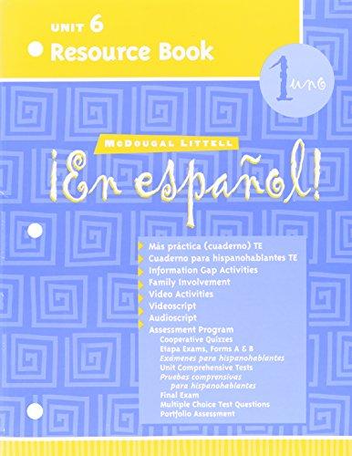 9780395961995: !En Espanol! Unit 6 Resource Book 1uno