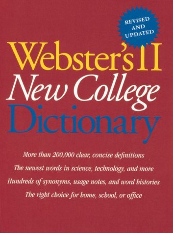 9780395962145: Webster's II New College Dictionary