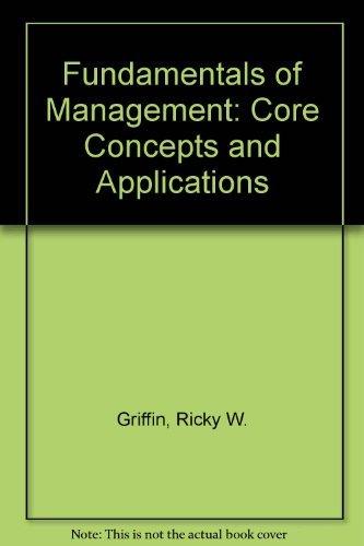 9780395962312: Fundamentals of Management: Core Concepts and Applications