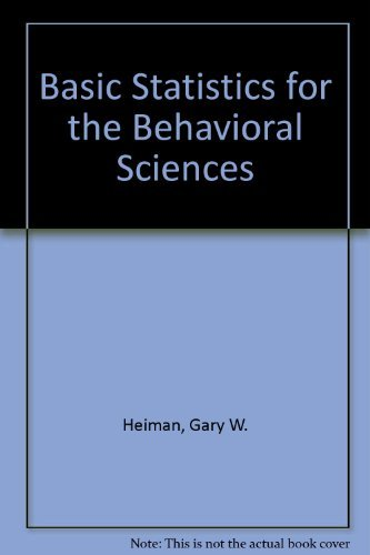 9780395962534: Basic Statistics For The Behavioral Sciences Study Guide, Third Edition