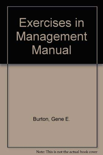 9780395966433: Exercises in Management Manual