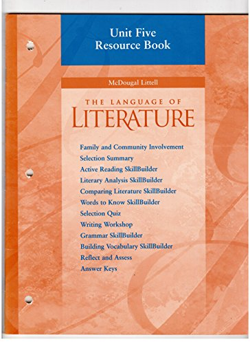 mcdougal littell - language literature unit resource book