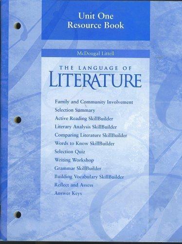 Unit One Resource Book, McDougal Littell The: McDougal Littell