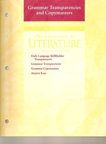 9780395968420: The Language of Literature: American Literature: Grammar Transparencies and Copymasters
