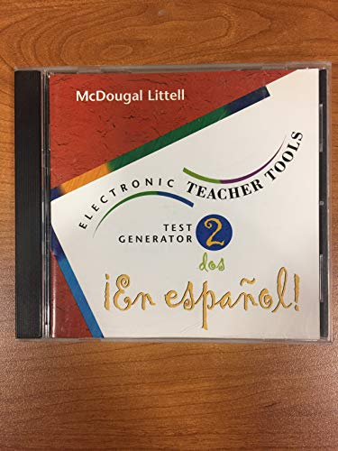 9780395969281: McDougal Littell En Espanol 2 Electronic Teacher Tools Test Generator CD-Rom