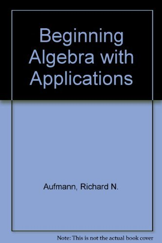 9780395969793: Beginning Algebra With Applications