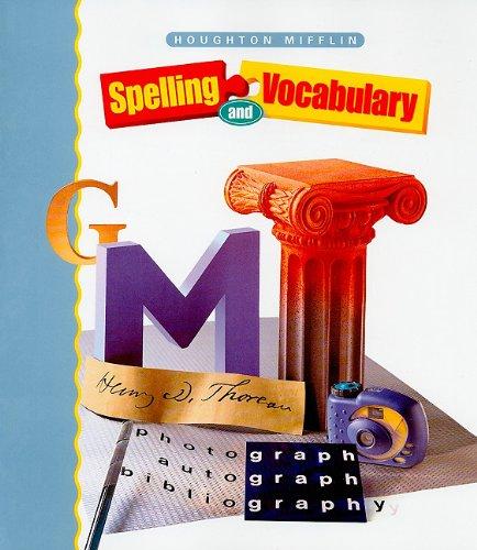 9780395970072: Houghton Mifflin Spelling: Student Edition Softcvr Level 7 2000