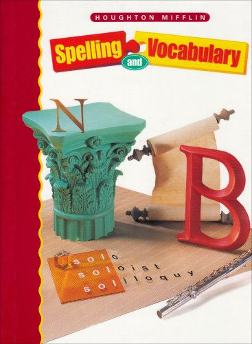 9780395970454: Houghton Mifflin Spelling: Student Edition Hardcvr Level 8 2000