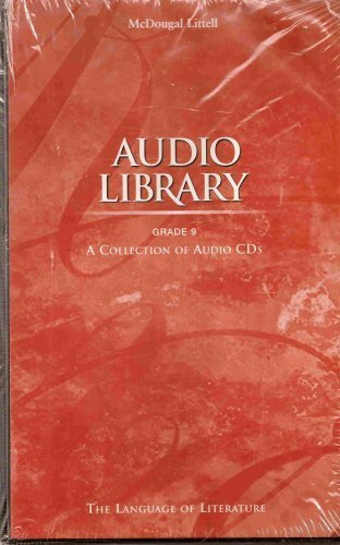 9780395971345: McDougal Littell Language of Literature: CD Audio Library Package Grade 09