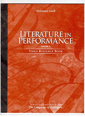 9780395972403: Literature in Performance: Grade Nine: Video Resource Book: A Video Companion to The Language of Literature