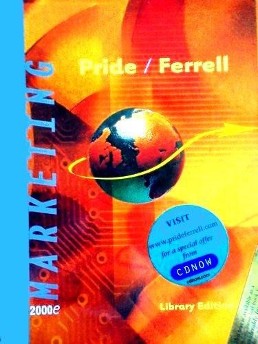 Marketing: Concepts and Strategies: Pride, William M.;