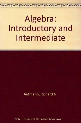 9780395976067: Algebra: Introductory And Intermediate Student Solutions Manual, Second Edition
