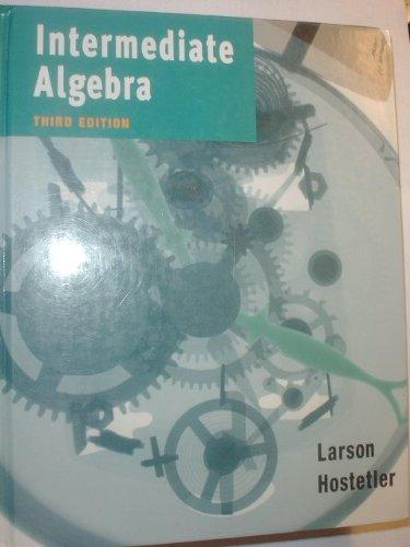 9780395976609: Intermediate Algebra Third Edition