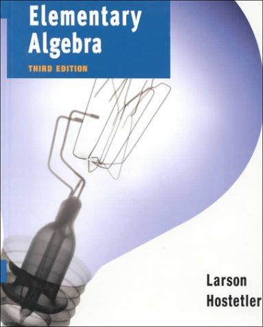 9780395976715: Elementary Algebra Third Edition