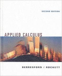 9780395978184: Applied Calculus Brief Second Edition