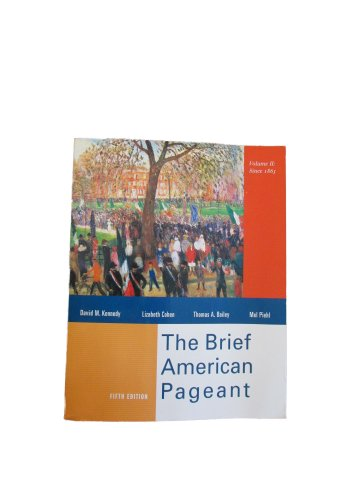 9780395978672: American Pageant, Volume 2 Brief, Fifth Edition