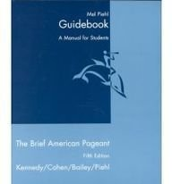 9780395978696: American Pageant Study Guide Brief, Fifth Edition